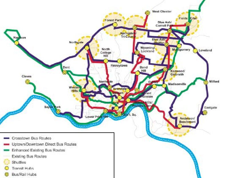 Cincinnati S Rail Bus Plan