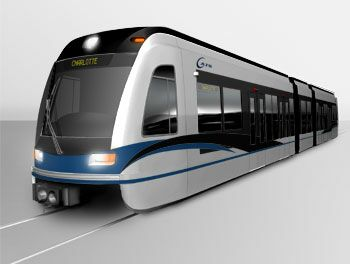 Charlotte light rail vehicle