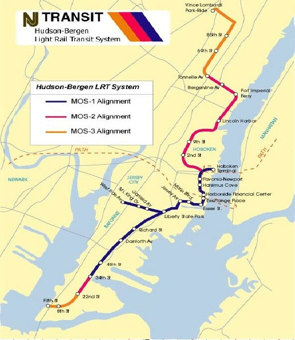 New Jersey Light Rail Map Northern New Jersey: Light Rail's Spectacular Comeback