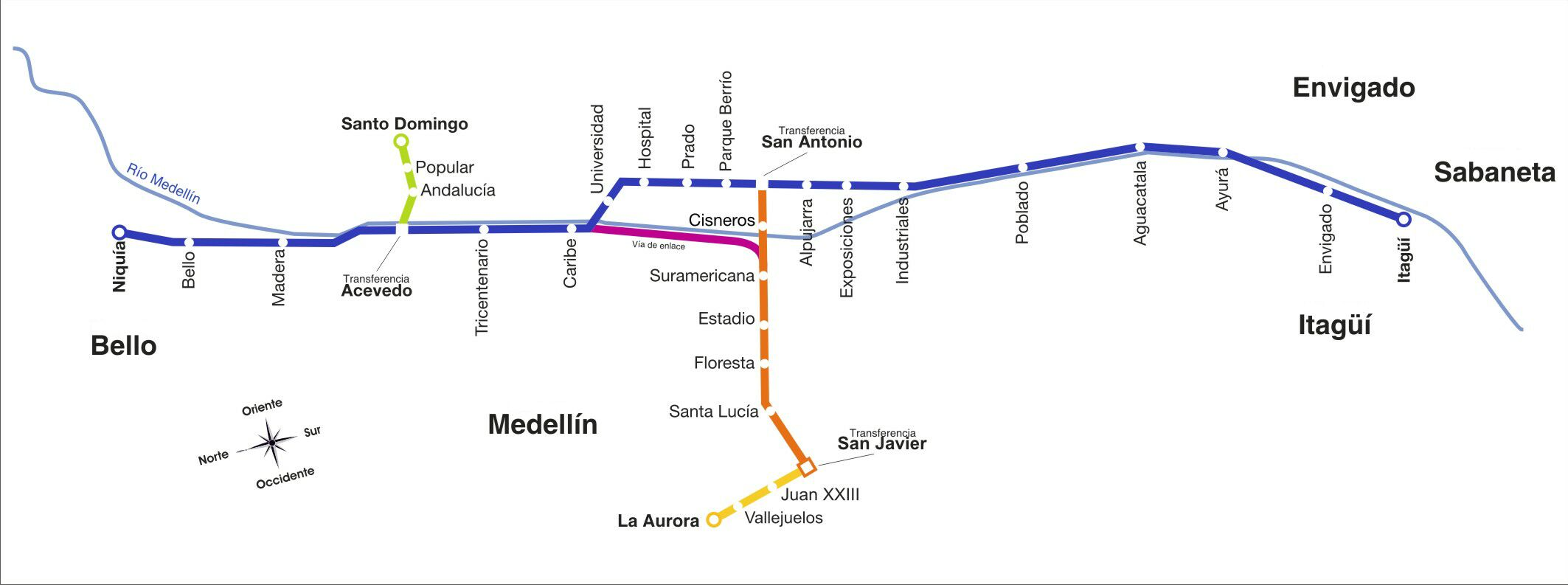 Medellín: Rail Rapid Transit (Metro) Overview   Light Rail Now