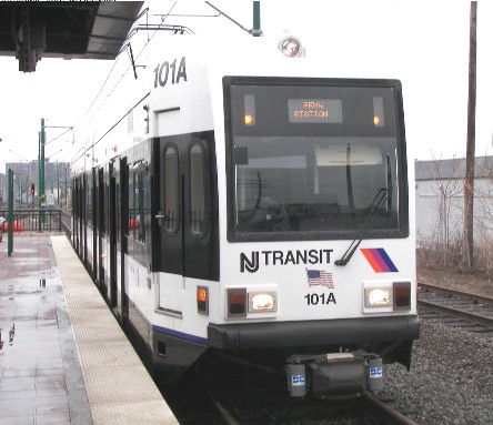 Newark LRT train