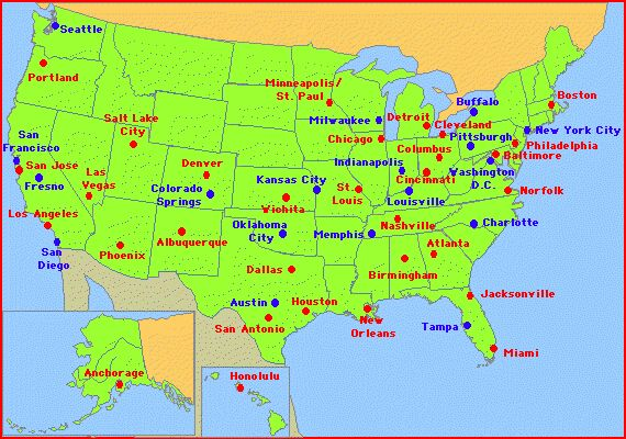 Maps Usa Map Capital - Usa map with cities and capitals